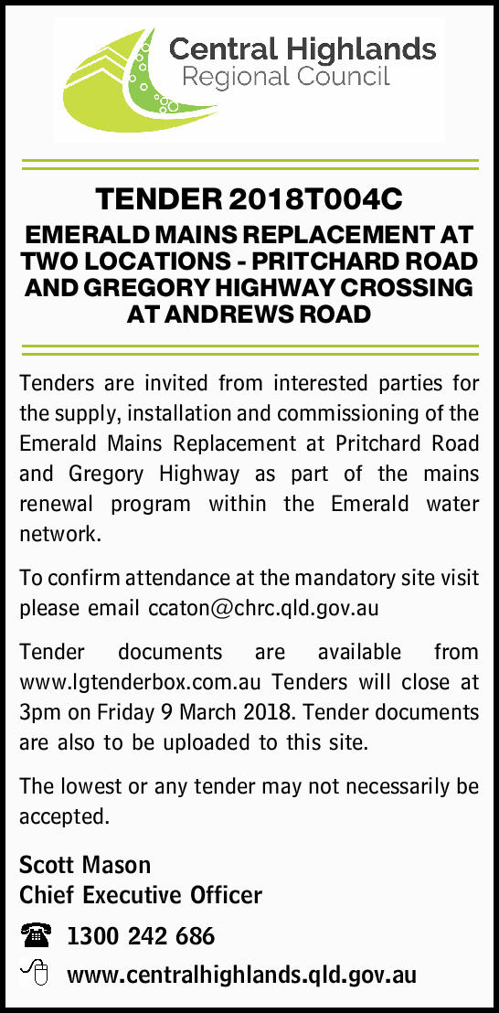 TENDER 2018T004C
