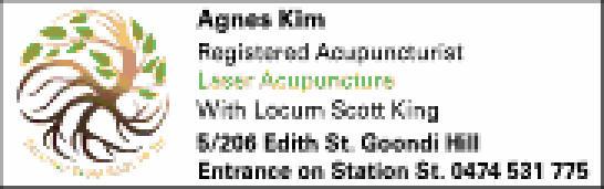 Registered Acupuncturist Laser Acunpunture With Locum Scott King 5/206 Edith St. Goondi Hil...