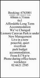 Affordable Long Term Accommodation