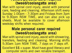 Female personal carer required (tweed/coolangatta area)