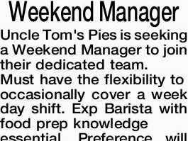 Weekend Manager