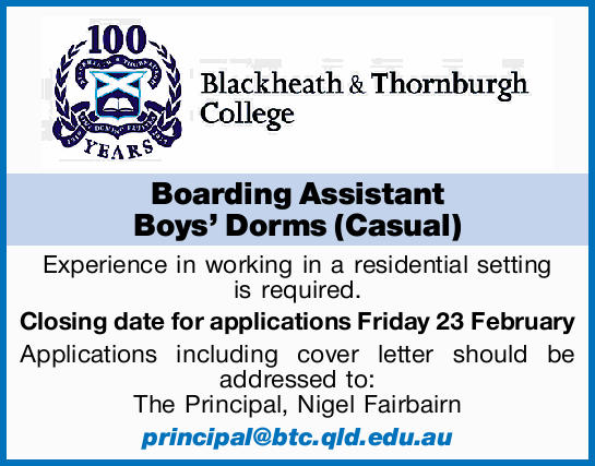 Experience in working in a residential setting is required.   Closing date for applications F...