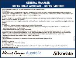 Coffs Harbour   An exciting opportunity exists to join The Coffs Coast Advocate in the role o...