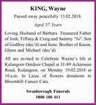 KING, Wayne