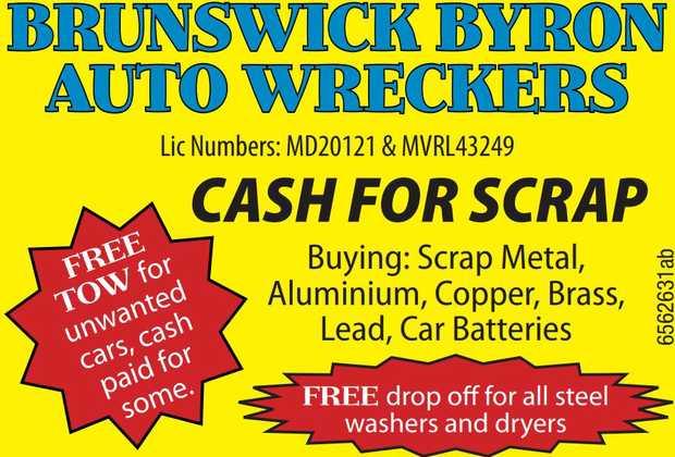 BRUNSWICK BYRON AUTO WRECKERS   Lot 100 Pacific Highway, Tyagarah - Mullumbimby Exit.    ...