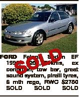 D L O S FORD Falcon Sedan EF 1995, 259,000kms, ex condition, tow bar, great sound system, pirelli ty...