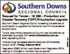 "Request for Tender - 18_092 - Production and Disaster Recovery (""DR"") Virtualization Upgrade Tender documents prepared by Council may be obtained by downloading a copy from www.LGtenderbox.com.au after registering online. Tenders must be lodged electronically via LGTenderbox by 5pm AEST, Friday, 9 March 2018 Regulation 228(7) of the ..."