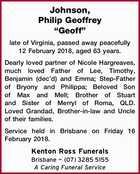 """Johnson, Philip Geoffrey """"Geoff"""""""