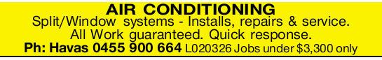 Split/Windowsystems - Installs, repairs & service.   All Work guaranteed.   Quick res...