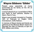 Wayne Gibbons 'Gibbo'