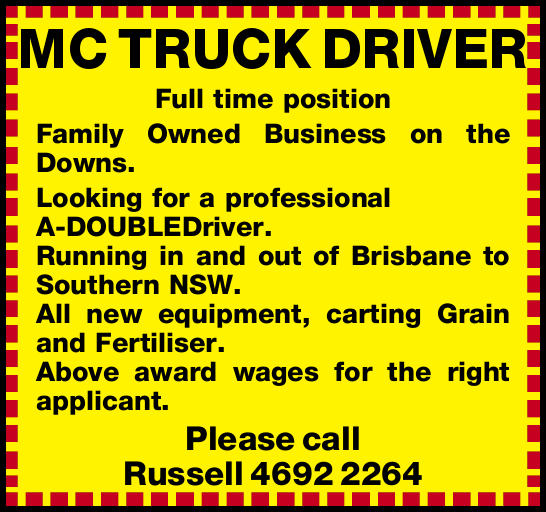 MC TRUCK DRIVER