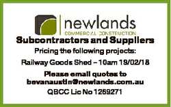 Railway Goods Shed - 10am 19/02/18