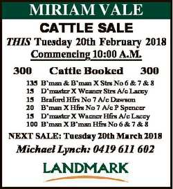 THIS Tuesday 20th February 2018 