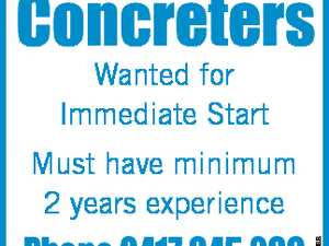Concreters Wanted