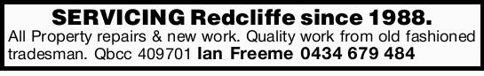 SERVICING Redcliffe since 1988. 