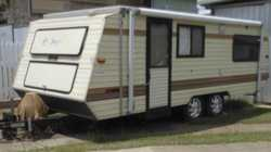 Dual axle Annexe & Rollout awning, single beds, Solar Panel, all necessities, 2 new spare tyres.  Po...