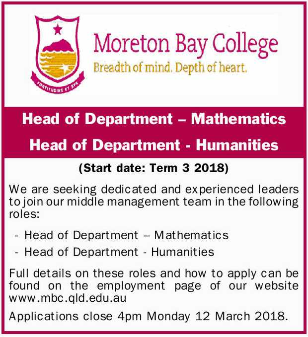Head of Department – Mathematics