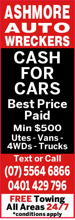 ASHMORE AUTO WRECKERS    CASH FOR CARS   Best Price Paid Min $500    Utes - Vans - 4W...