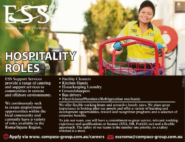 Apply via www.compass-group.com.au/careers