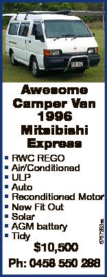 Awesome Camper Van 1996 Mitsibishi Express 6767253aa * RWC REGO * Air/Conditioned * ULP * Auto * Rec...