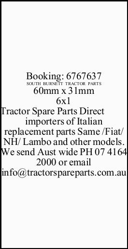 Tractor Spare Parts