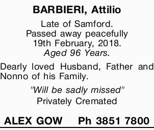 Late of Samford.
