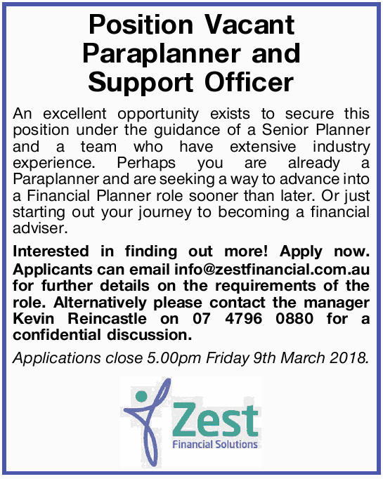 An excellent opportunity exists to secure this position under the guidance of a Senior Planner an...