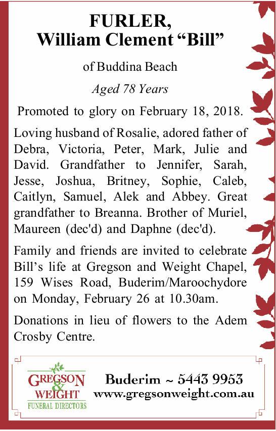 of Buddina Beach   Aged 78 Years    Promoted to glory on February 18, 2018.   Loving...