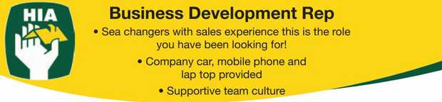 • Sea changers with sales experience this is the role you have been looking for!   &bull...