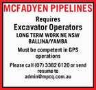 Excavator Operators