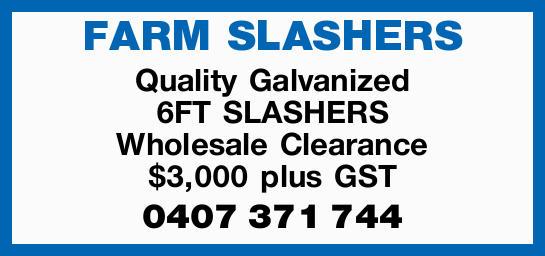 Quality Galvanized   6FT SLASHERS   Wholesale Clearance   $3,000 plus GST