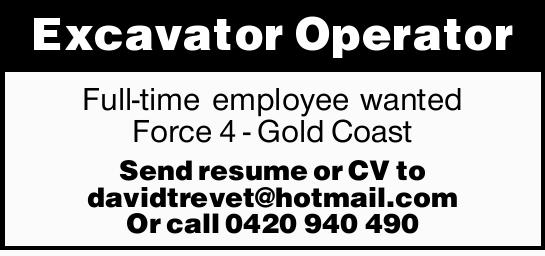 Full-time employee wanted.