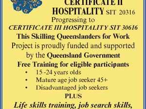 Noosa Community Training Centre Inc. 2/6 Venture Drive, Noosaville CerTIfICaTe II hospITalITy SIT 20316 Progressing to CERTIFICATE III HOSPITALITY SIT 30616 This Skilling Queenslanders for Work Project is proudly funded and supported by the Queensland Government Free Training for eligible participants 15 -24 years olds Mature age job seeker ...