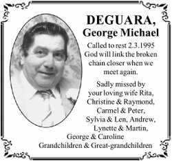 DEGUARA, George Michael