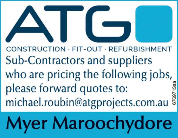 Sub-Contractors and suppliers
