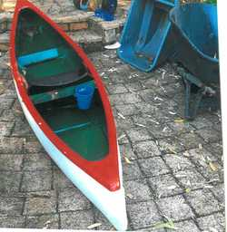 FIBREGLASS CANOE.
