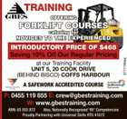 OFFERING FORKLIFT COURSES