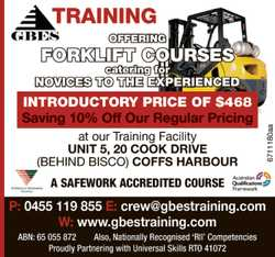 OFFERING FORKLIFT COURSES    catering for NOVICES TO THE EXPERIENCED   INTRODUCTORY PRI...