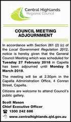 COUNCIL MEETING ADJOURNMENT