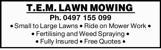 Small to Large Lawns