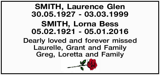 SMITH, Laurence Glen