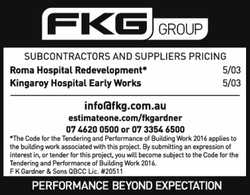FKG Group Subcontractors and Suppliers pricing