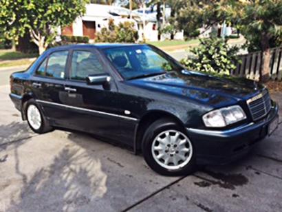 Mercedes 98 C200 Elegance, 2L, 5sp, 4dr, auto, 2nd owner, VGC, 247,000 km, full serv hist, RWC, d...