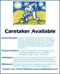 Caretaker Available