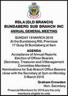 RSLA (QLD BRANCH) BUNDABERG SUB BRANCH INC