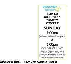 SUNDAY 9:00am 6:00pm  18556 BRUCE HWY INFO: JOHN & HELEN GARDNER 0439 290 7...