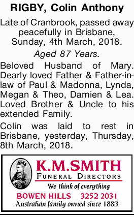RIGBY, Colin Anthony