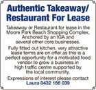 Takeaway/Restaurant For Rent