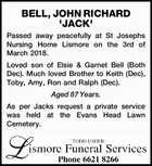 BELL, JOHN RICHARD 'JACK'