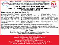 Thomas Borthwick & Sons (Australila) Pty Ltd a leading producer and exporter of beef and beef...